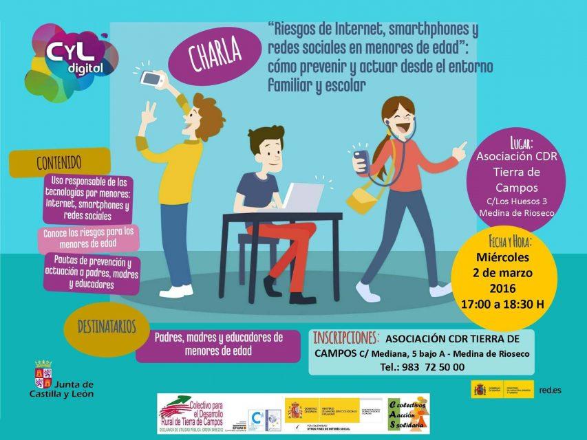 """charla GRATUITA sobre los """"Riesgos de Internet, smarthphones y redes sociales en menores de edad: cómo prevenir y actuar desde el entorno familiar y escolar"""""""