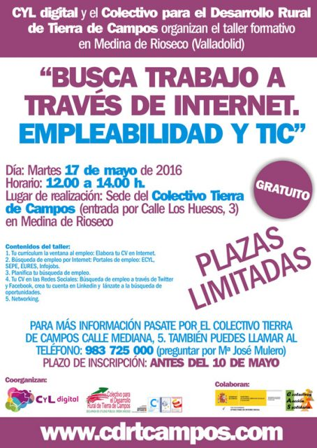 CYL digital y el Colectivo Tierra de Campos organizan un taller formativo en Medina de Rioseco